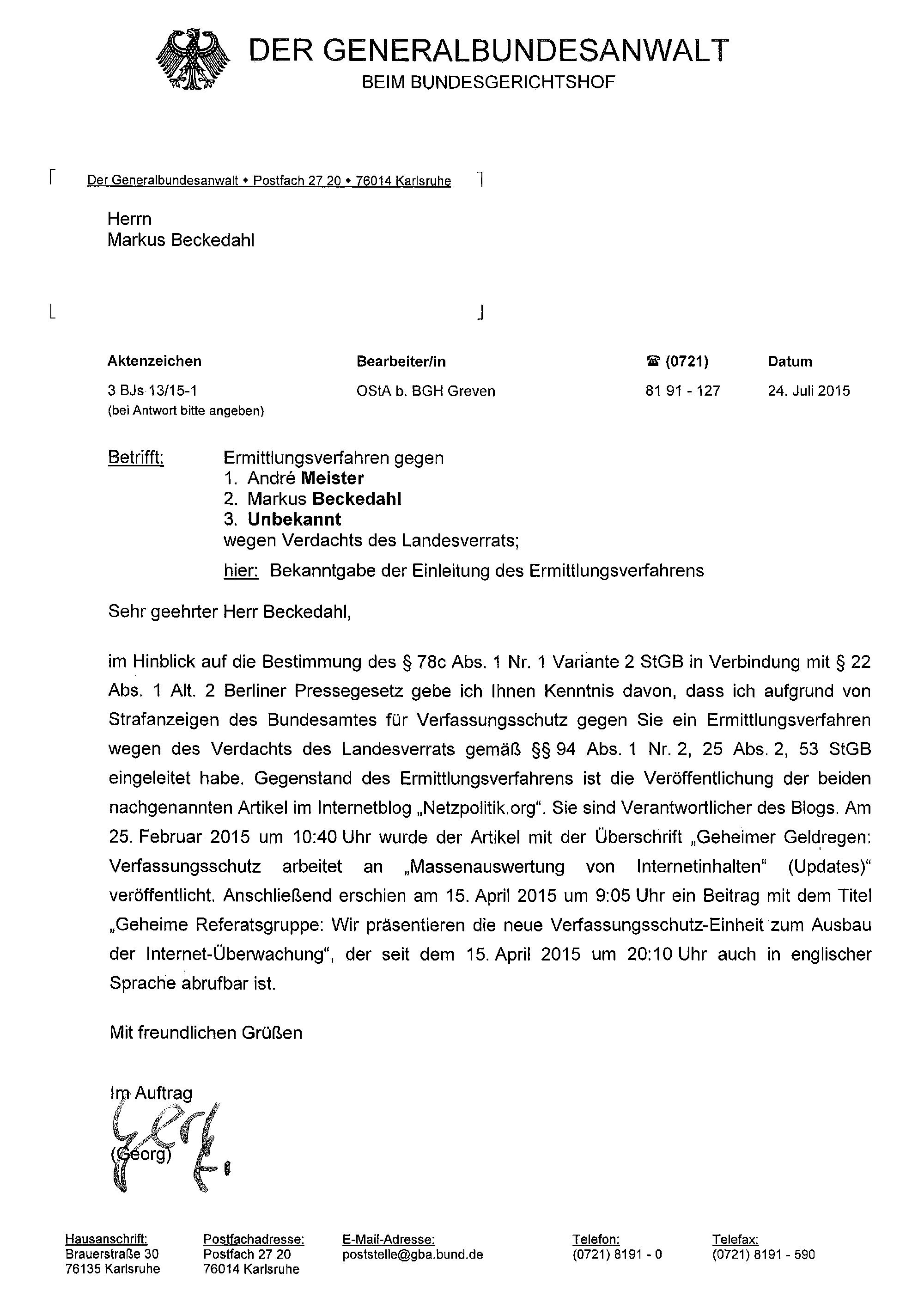 Generalbundesanwalt-Ermittlungsverfahren-Landesverrat-Netzpolitik