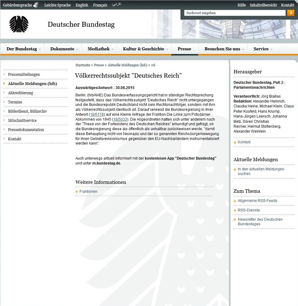 Deutsches Reich Bundestag
