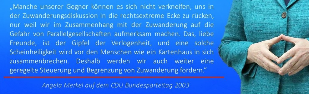 Zuwanderer Polotik Zitat Angela Merkel 2005